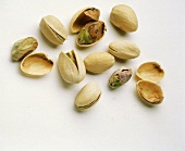 Still Life of Pistachios in and Out of the Shell