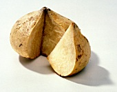 Jicama with a Wedge Cut Out