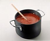 A Pot of Tomato Sauce