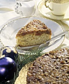 A Slice of Cranberry Coffee Cake; Christmas Decorations