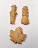 Maple Sugar Candy Molded into People and a Leaf