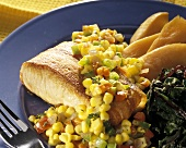 Bacon Salmon with Corn Relish