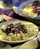 Fusilli alla siracusana (Fusilli with vegetables & capers, Italy)