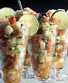 Watermelon and Jicama Salad Cups
