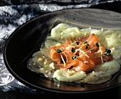 Marinated Salmon with Cucumbers