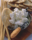 Herbed Dip with Cracker and Knife