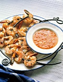 Grilled Skewered Shrimp with Apricot Sauce