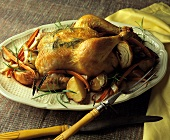 Whole Chicken Roasted with Vegetables and Rosemary