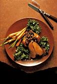 Apricot Stuffed Cornish Hen; Carrots