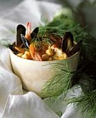 A Bowl of Bouillabaisse; Fresh Dill