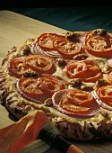 Pizza with Sausage Tomato and Red Onion
