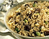 Rice Salad with Pistachios and Raisins