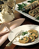 Lamb Roulade with Herb Dressing
