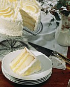 A Slice of Triple Layer Lemon Cake