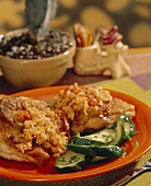 Chicken with Spanish Rice and Zucchini