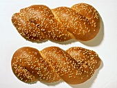 Two Loaves of Bread with Sesame Seeds