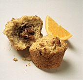 Fig Filled Muffin with Orange Slice