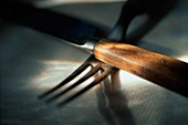Knife and Fork with Wooden Handles