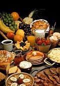 Still Life of Assorted Breakfast Foods