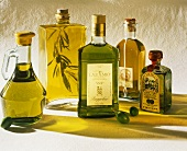 Still Life of Five Bottles of Olive Oil