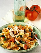 Bow Tie Pasta with Chicken and Tomatoes