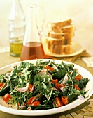 Salad with Baby Greens Tomato and Red Onion