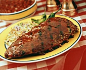 Barbecue Spareribs with Cole Slaw