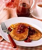 Cranberry Pancakes with Cranberry Sauce