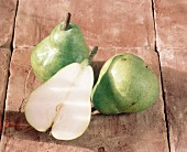 Two Whole Pears with Half a Pear