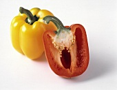 Yellow Bell Pepper with Red Bell Pepper Half