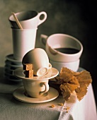 Still Life with Espresso Cups and Sugar Cubes