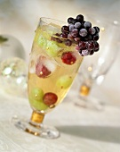 Refreshing Glass of Fruit Juice; A Bunch of Grapes