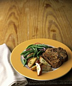 Pork Chop with Red Potatoes and Green Beans