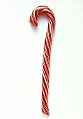One Red and White Striped Candy Cane