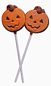 Two Jack o' Lantern Lollipops