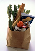 Fresh Groceries in a Brown Paper Bag