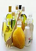 Assorted Salad Dressings in Bottles
