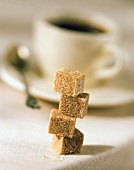 Four Natural Sugar Cubes Stacked