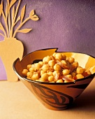 A Bowl of Chick Peas with Sun Dried Toatoes