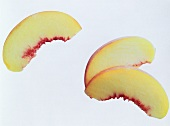 Three Peach Slices