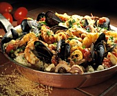 Seafood Stew Over Couscous