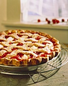 Cherry Pie on a Cooling Rack