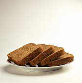 Slices of Wheat Bread on a Plate