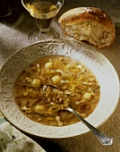 Pastina in brodo (Vegetable soup with pasta, Italy)