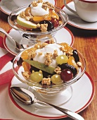 Fruit Salad with Yogurt and Granola