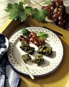 Grape Leaves Filled with Goat Cheese