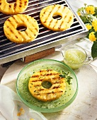 Grilled Pineapple with Melon Sauce