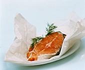 Salmon Steak on Butcher's Paper