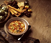 Minestrone con la pasta (Vegetable soup with noodles, Italy)