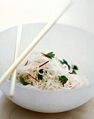 Asian Noodles with Chopsticks